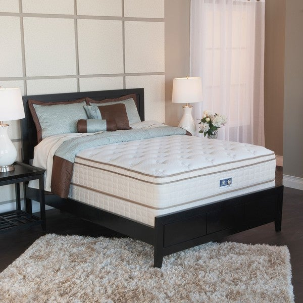 Serta Bristol Way Euro-top Split Queen-size Mattress and Box Spring Set