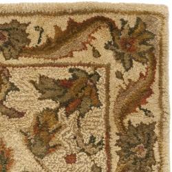 Safavieh Handmade Heritage Ivory Wool Rug (2' x 3') - Thumbnail 1