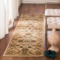 "Safavieh Handmade Antiquities Kasadan Ivory / Gold Wool Rug - 2'3"" x 12'"