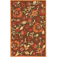 Safavieh Handmade Blossom Gardens Brown Wool Rug - 4' x 6'