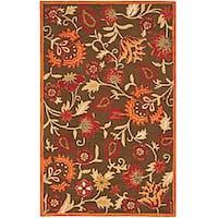 Safavieh Handmade Blossom Gardens Brown Wool Rug - 5' x 8'