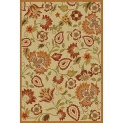Safavieh Handmade Blossom Paisley Beige Wool Rug (4' x 6')