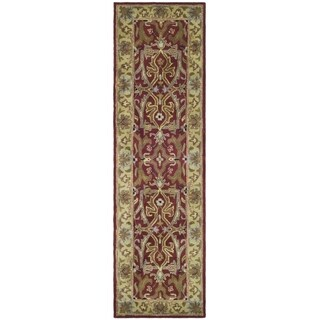 Safavieh Handmade Heritage Timeless Traditional Red/ Gold Wool Runner (2'3 x 4')
