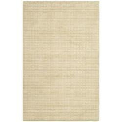 Safavieh Handmade Himalaya Beige Grid Wool Rug (4' x 6')