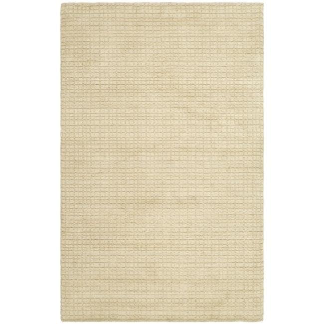 Safavieh Handmade Himalaya Beige Grid Wool Area Rug (5' x 8')