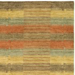 Safavieh Handmade Himalaya Multicolored Plaid Wool Tibetan Rug (8' x 10')