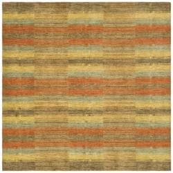 Safavieh Hand-knotted Himalayan Southwest Multi-colored Wool Rug (6' Square)