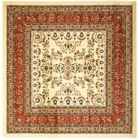 Safavieh Lyndhurst Traditional Oriental Ivory/ Rust Rug (8' Square)