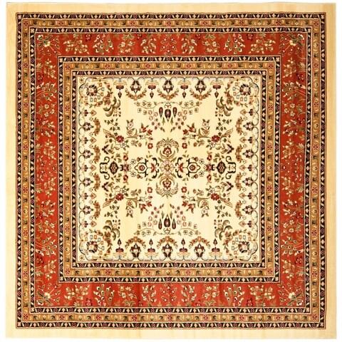 Safavieh Lyndhurst Traditional Oriental Ivory/ Rust Rug - 8' x 8' Square