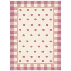 Safavieh Handmade Novelty Pink Wool Rug (2' x 3')