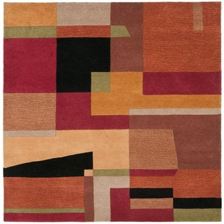 Safavieh Handmade Rodeo Drive Modern Abstract Rust/ Multi Wool Rug (8' Square)