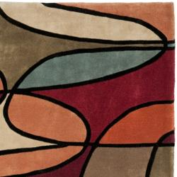 Safavieh Handmade Rodeo Drive Modern Abstract Multicolored Wool Rug (6' Square)