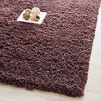 Safavieh Classic Ultra Handmade Chocolate Brown Shag Runner Rug - 2'3 x 6'