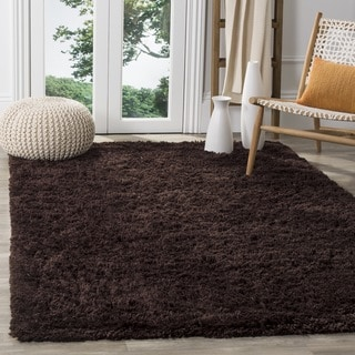 Safavieh Classic Ultra Handmade Chocolate Brown Shag Rug (7' Square)