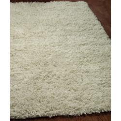 Safavieh Handmade Shaggy Ivory Natural Wool Runner (2'3 x 6')