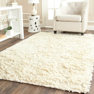 Safavieh Handmade Shaggy Ivory Natural Wool Area Rug (5' x 8')