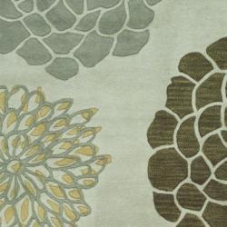Safavieh Handmade Soho Botanical Light Grey N. Z. Wool Rug (3'6 x 5'6') - Thumbnail 1