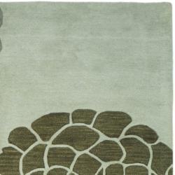 Safavieh Handmade Soho Botanical Light Grey N. Z. Wool Rug (3'6 x 5'6') - Thumbnail 2