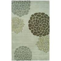 Safavieh Handmade Soho Botanical Light Grey N. Z. Wool Rug - 8'3 x 11'
