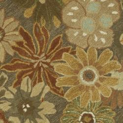 Safavieh Handmade Soho Gardens Brown/ Multi N. Z. Wool Rug (6' Round) - Thumbnail 2