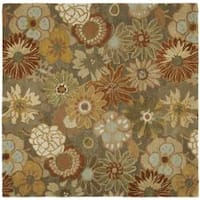 Safavieh Handmade Soho Gardens Brown/ Multi N. Z. Wool Rug - 6' x 6' Square