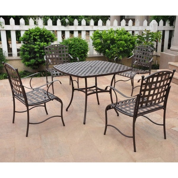 International Caravan Santa Fe Nailhead Iron 5-piece Dining Set