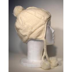 Cotton and Wool Solid Color Ski Hat (Nepal) - Thumbnail 1