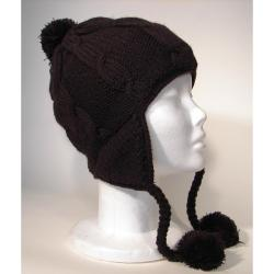 Cotton and Wool Solid Color Ski Hat (Nepal) - Thumbnail 2