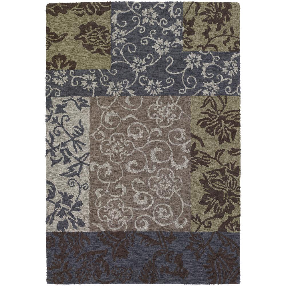 Artist's Loom Hand-tufted Transitional Floral Wool Rug (5'x7'6) - multi - 5' x 7'6