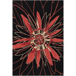 Artist's Loom Hand-tufted Transitional Floral Wool Rug - 5' x 7'6 - Thumbnail 0