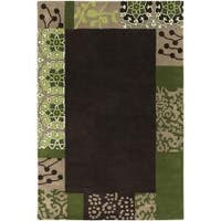 Artist's Loom Hand-tufted Transitional Floral Wool Rug - 5' x 7'6