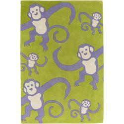 Artist's Loom Hand-tufted Kids Animal Print Wool Rug (5'x7'6)