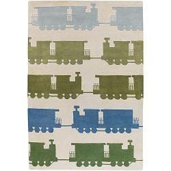Artist's Loom Hand-tufted Kids Geometric Wool Rug (7'9x10'6) - Thumbnail 0