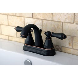 English Classic Two-tone Oil Rubbed Bronze Bathroom Faucet
