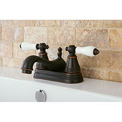 Two-Handle Oil-Rubbed Bronze Bathroom Faucet - Thumbnail 1