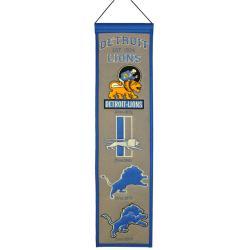 Detroit Lions Wool Heritage Banner