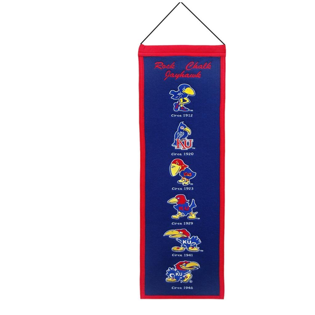 Kansas Jayhawks Wool Heritage Banner