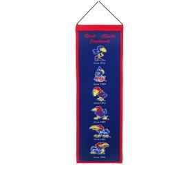 Kansas Jayhawks Wool Heritage Banner - Thumbnail 0