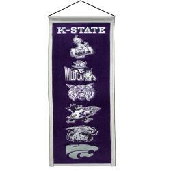 Kansas State Wildcats Wool Heritage Banner