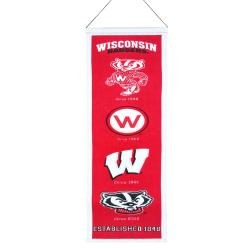 Wisconsin Badgers Wool Heritage Banner