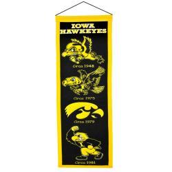 Iowa Hawkeyes Wool Heritage Banner - Thumbnail 1