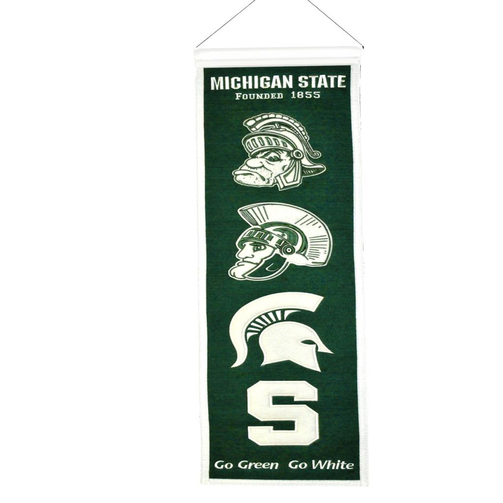 Michigan State Spartans Wool Heritage Banner