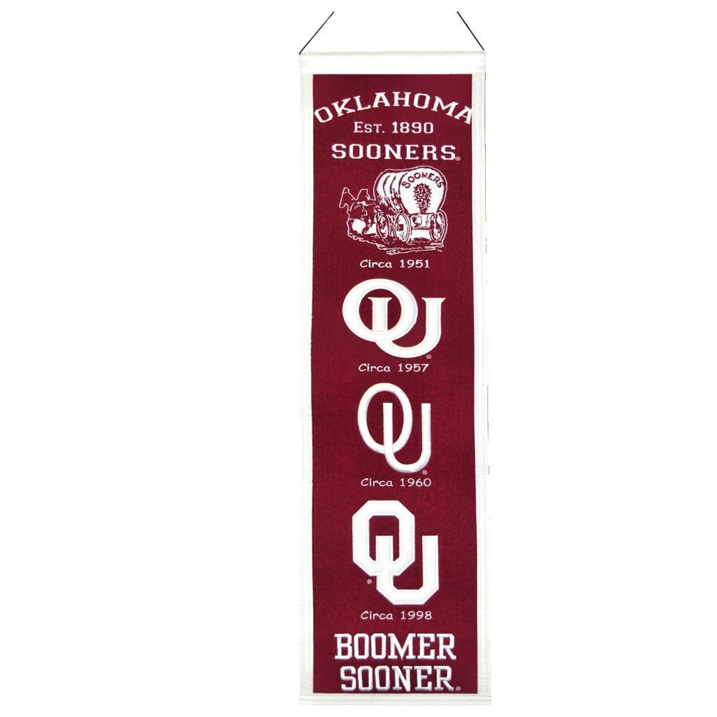Oklahoma Sooners Wool Heritage Banner