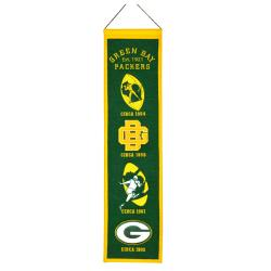 Green Bay Packers Wool Heritage Banner - Thumbnail 1