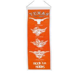 Texas Longhorns Wool Heritage Banner - Thumbnail 1