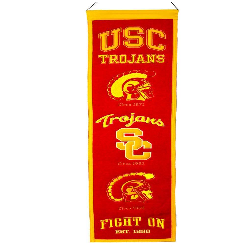 USC Trojans Wool Heritage Banner