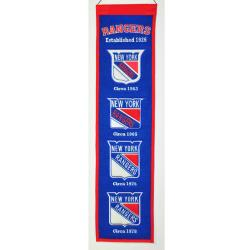 New York Rangers Wool Heritage Banner