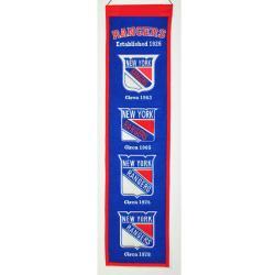 New York Rangers Wool Heritage Banner
