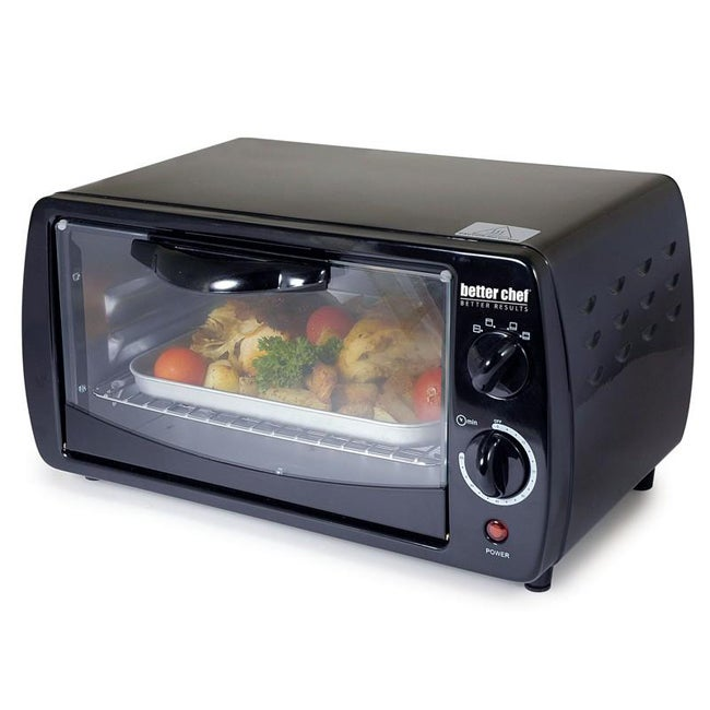 Better Chef IM-266B Black 9-liter Toaster Oven