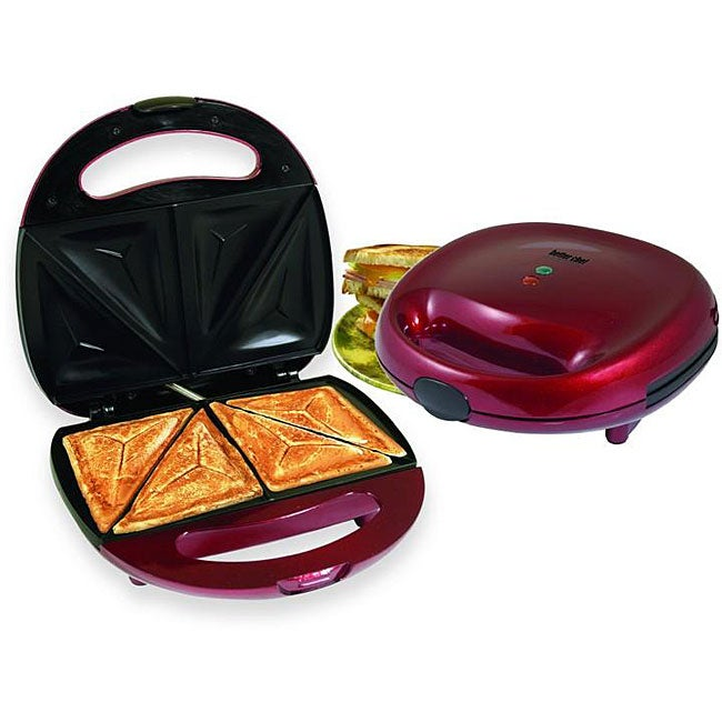 Better Chef IM-288R Red Sandwich Panini Maker Compact Grill - Thumbnail 0